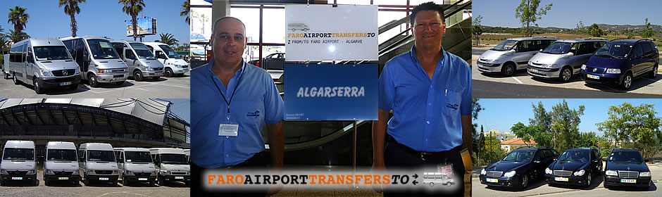 Faro Airport transfers TO - our sign at the airport